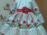 Платья детские и взрослые в украинском стиле, маки, хлопок - фото 3