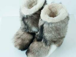 Mens winter boots made of goats fur and wool