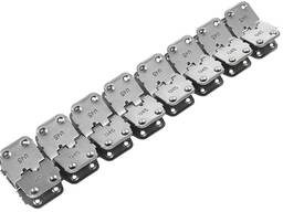 U45 Rivet Hinged Conveyor belt Fasteners for 7-11 mm belts - фото 2